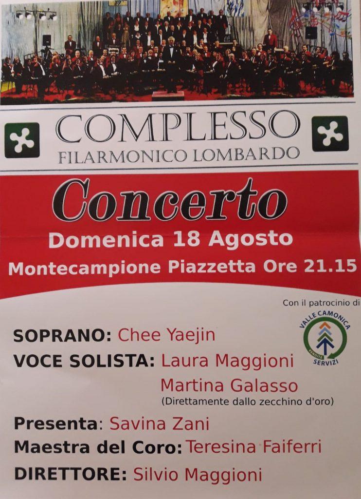 CONCERTO MONTECAMPIONE 18/08/2019